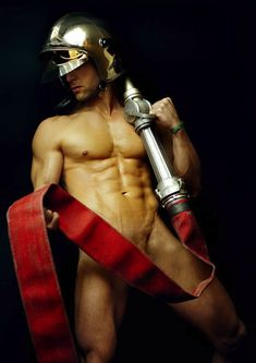 .Nice long hose there, Mr fireman
