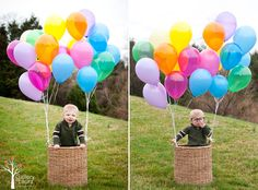 Variety of 1st Birthday pictures on blog, Charleston, SC photographer. Old man from Up