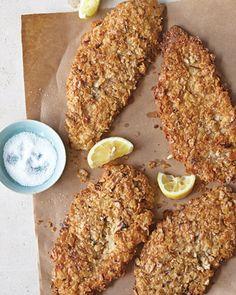 passover - matzah crusted chicken
