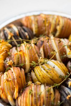 The Salty Tomato   Hasselback Potatoes – A Flexitarian Thanksgiving Part 1   http://the-salty-tomato.com
