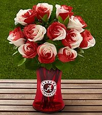 I don't normally like roses, but these I LOVE...RTR...  The FTD® University of Alabama® Crimson Tide® Rose Bouquet - 12 Stems - VASE INCLUDED