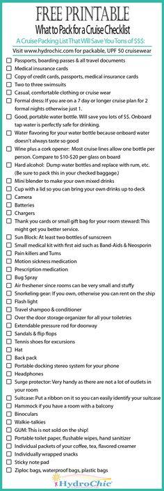 printabl checklist, cruise packing checklist, cruise checklist, checklist for cruise, pack for cruise, what to pack cruise, honeymoon cruise, what to pack for a cruise, packing for a cruise