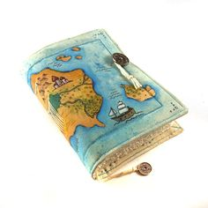 Treasure Map Journal Guestbook Diary by Kreativlink on Etsy