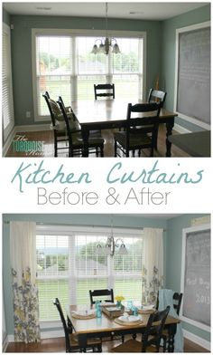 Before and After: Adding Curtains to the Kitchen