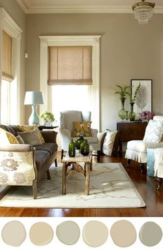 The use of natural bamboo, muted painted walls and botanical elements make this room earth inspired.