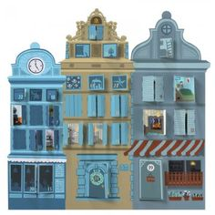 French Village Advent Calendar - Free Download: Directions on site, going through Google Translate.