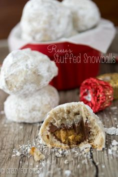 Reese's Stuffed Snowballs