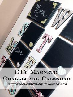 Magnetic Chalkboard Calendar