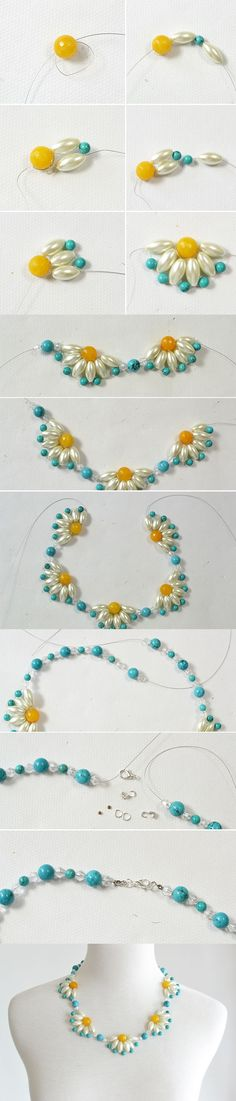 "Tutorial - How to DIY a Flower Choker Necklace Step by Step from <a href=""http://LC.Pandahall.com"" rel=""nofollow"" target=""_blank"">LC.Pandahall.com</a>"