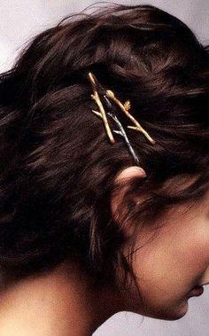 Tiny Twig Hair Pins, Set of Three | Woodland Belle