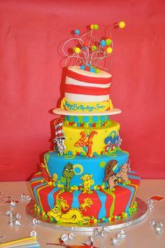 Tiered Seuss Cake