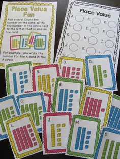 Place value math work station to practice numbers in base ten