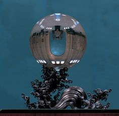 crystal ball with water stand