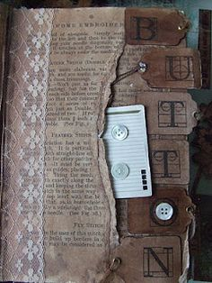 Altered book - partial pages