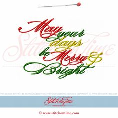 646 Christmas : May Your Days Be Merry & Bright 5x7