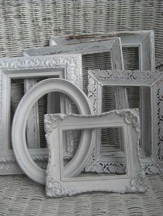 Ornate white frames