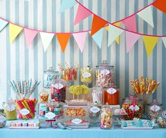 Cute candy table