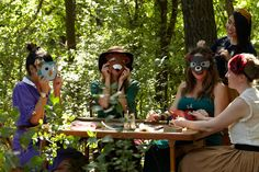 Woodland Creature Masks. A charming way for everyone at the baby shower to get playful together.