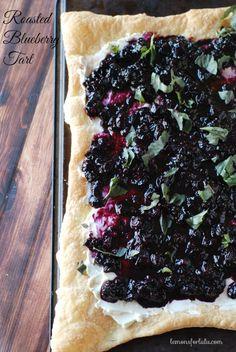 Roasted Blueberry Tart