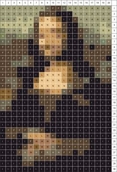 Create your own patchwork quilt pattern on the V Museum website from any photo. I can finally make myself a Mona Lisa quilt!