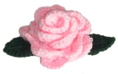 Crochet Flower Pattern: Rose | AllFreeCrochet.com crochet flowers, afghans, pink roses, crochet hooks, leav, crochet free patterns, crochet flower patterns, blog, crochet patterns