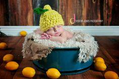 Custom Order Lemon Hat/photo prop sz nb $25 Newborn and Baby Photography props #Snipits #Snipitsink #DesiraeJonesPhotography