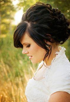 dress, country weddings, wedding updo, prom hair, bangs