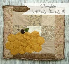 Hexagon Pumpkin Quilt Tutorial by Patchwork Posse~ A quick little tutorial for a fun fall project! The possibilities are endless with thousands of fabrics to choose from at the Fabric Shack at http://www.fabricshack.com/cgi-bin/Store/store.cgi