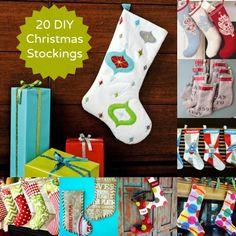 20 DIY Christmas Stockings to Hang on the Mantel - diycandy.com