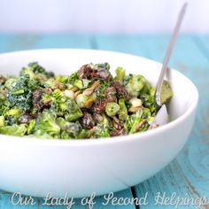 Light and Creamy Broccoli Salad | Our Lady of Second Helpings