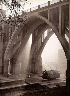 El viaducto de Madrid en los 50