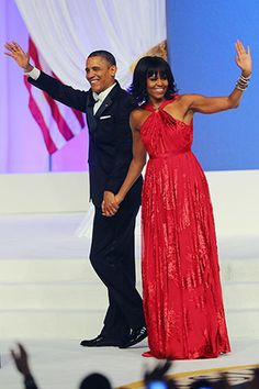 First Lady Michelle Obama in @Jason Stocks-Young Stocks-Young Stocks-Young Stocks-Young Wu at the 2013 Inaugural Ball
