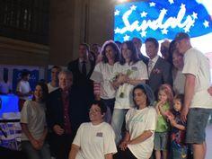 The winning military brides, Randy Fenoli, CEO Adam Stewart and Founder Butch Stewart