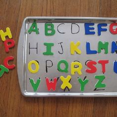 Learning letters/ This could be good to play with on are long car rides!