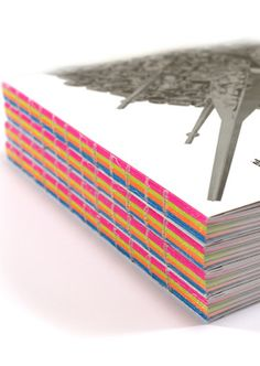 exposed spine binding with fluorescent surge