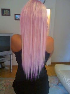 cotton candy pink hair cute