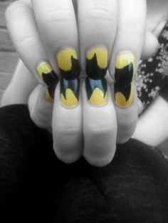 clever Batman nail design
