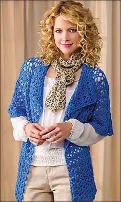 jacket pattern, crochet world, crocheted shrug pattern, chan crochet, drape, craft idea, crochet patterns, lace jacket, dori chan
