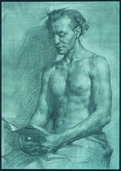 Dan Thompson Francisco, Charcoal on Toned Paper, 12×15 inches, 2004