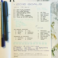 Bullet journal layou
