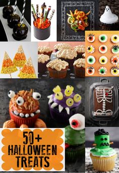 50+ Halloween Treats - a great collection of spooky goodies perfect for Halloween!! {Lil' Luna}  #halloween