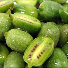 These are kiwi berries taste amazing ...i love exotic fruits