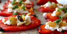 Roasted Pepper and Goat Cheese appetizer