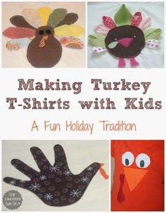 Turkey T-shirt Ideas for Holiday Fun with Kids from The Educators' Spin On It