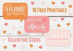 18 free printable Valentine's cards