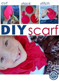 This super easy DIY scarf kids can make is sure to bring some cheer to your chilly days.
