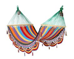 Multicolour Hammock Great for patio by veronicacolindres on Etsy, $80.00