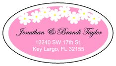 Pink Oval Address Label Template - Customize It!