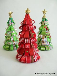 christmas crafts, ribbons, christma decor, christmas candy, candy canes