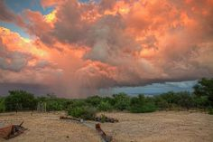 Sunset storm, Rancho El Chivato, Baja California Sur, Mexico.  October, 2014